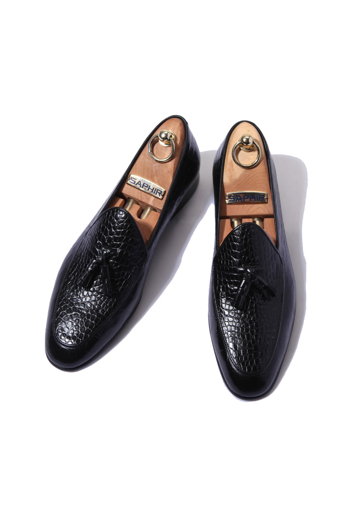 Take360 artisan Crocodile shoes/black[italy calf-bologna.ver]