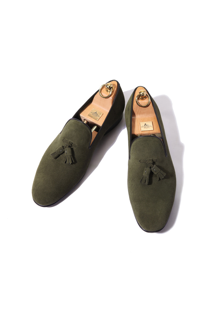 Take363 artisan slipper suede shoes/khaki