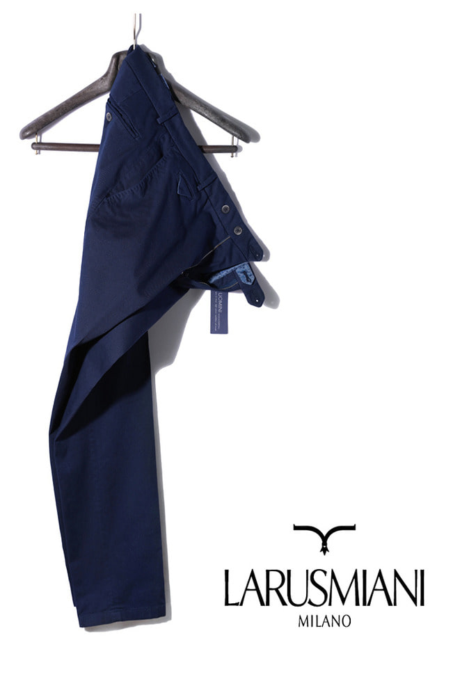 Take409 Larusmiani milano-italy garment dye pant/washed navy