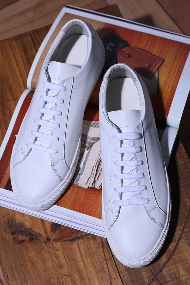 Common achilles sneakers/white-Best Seller-[제작기간 일주일 소요]