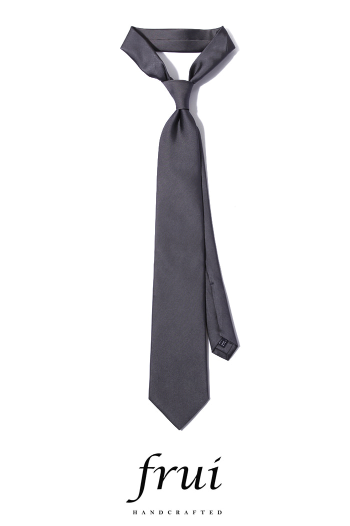 Frui Solid Gray tie/gray[hand crafted-well made-silk100%]