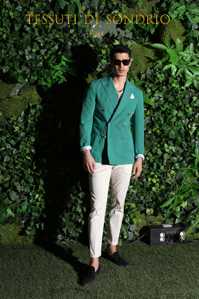 Take342 Tessuti di sondrio italy jacket/green-50% SALE
