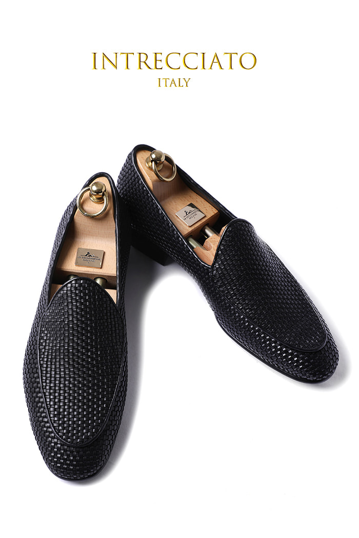 Take445 artisan intrecciato loafer/Black-프리미엄 에디션-