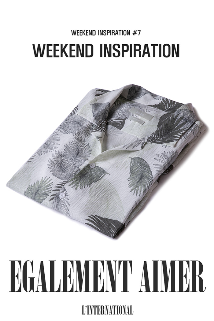 Feather hawaiian shirts /2color -수입한정!!-30% SALE!!