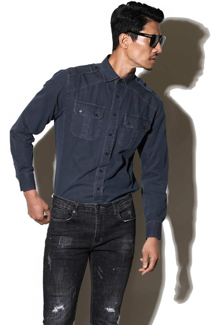 Take294 Zeus denim shirt/gray