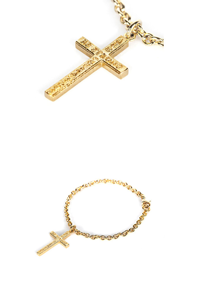 Cross pendant bracelet_01[premium-hand made]
