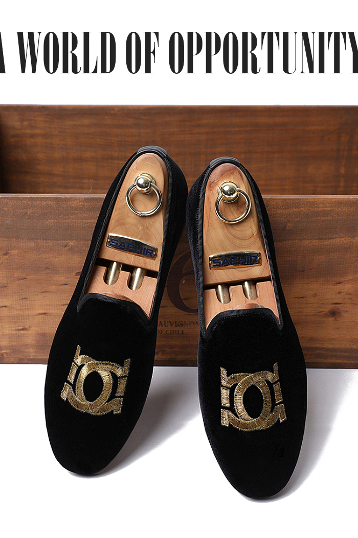 PEGA VELVET LOAFER-BLACK[HAND MADE]