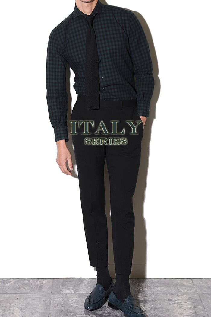 TAKE464 ITALIA A&C CHECK SHIRT-DARK GREEN이탈리아 시리즈-한정수량!-BEST SELLER!