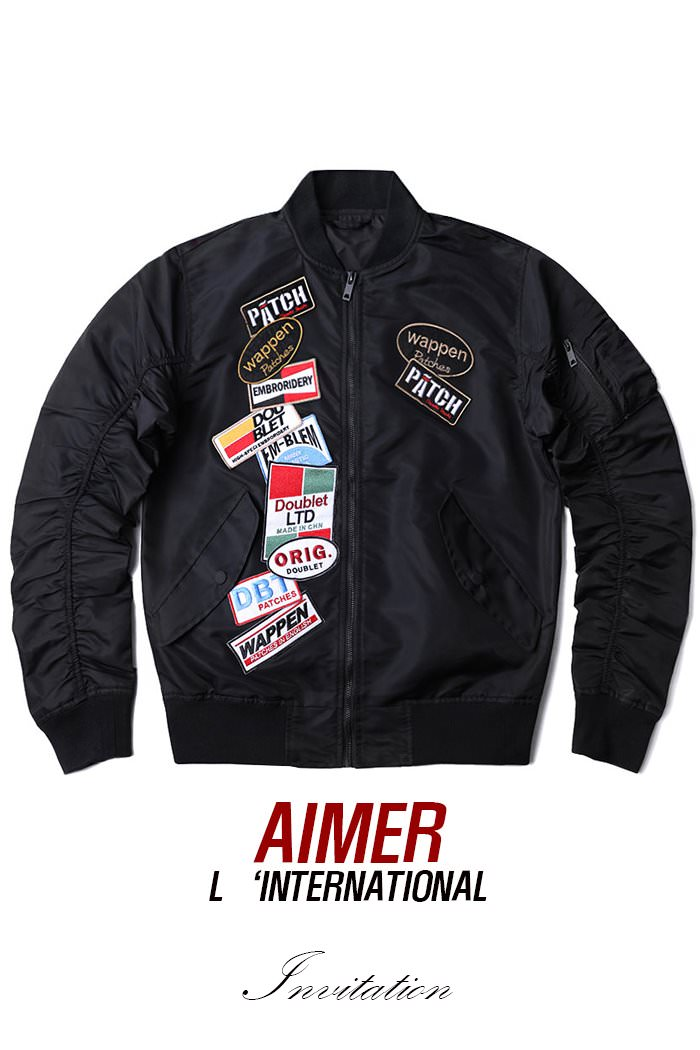DOUBLET PATCH FLIGHT JACKET-2COLOR수입한정제품!