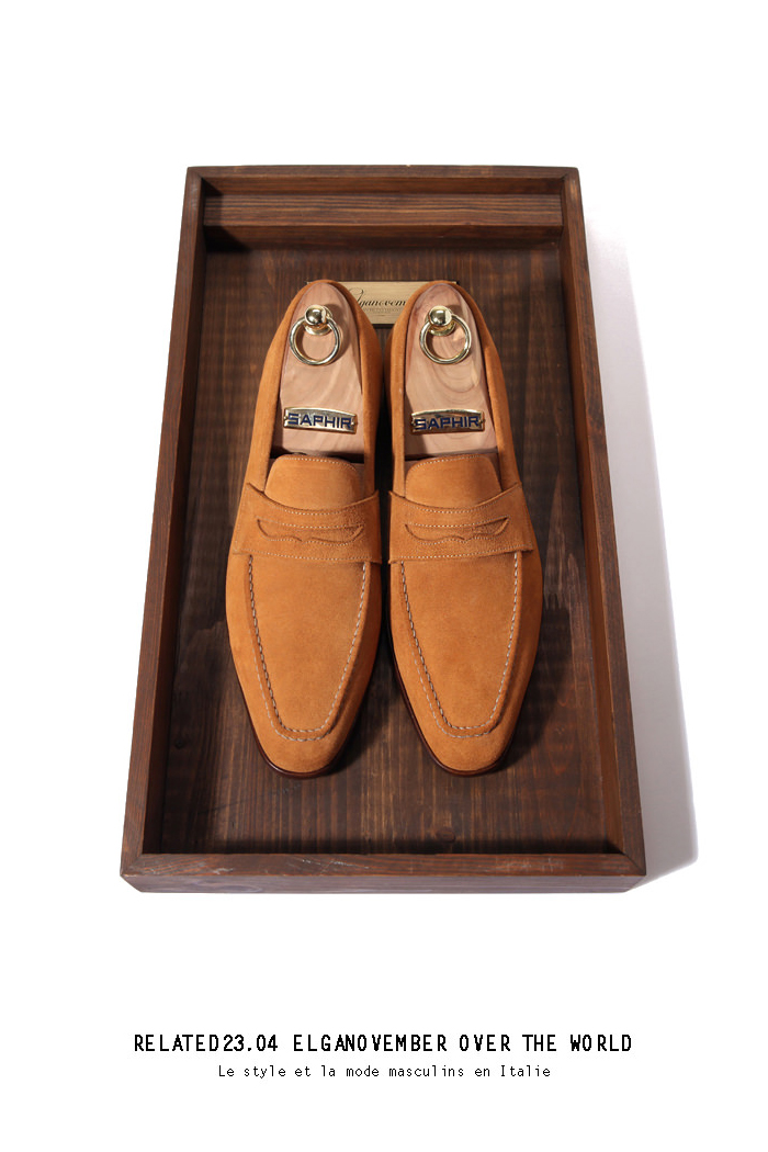 Take212 artisan loafer/yellow ocher[black label series]