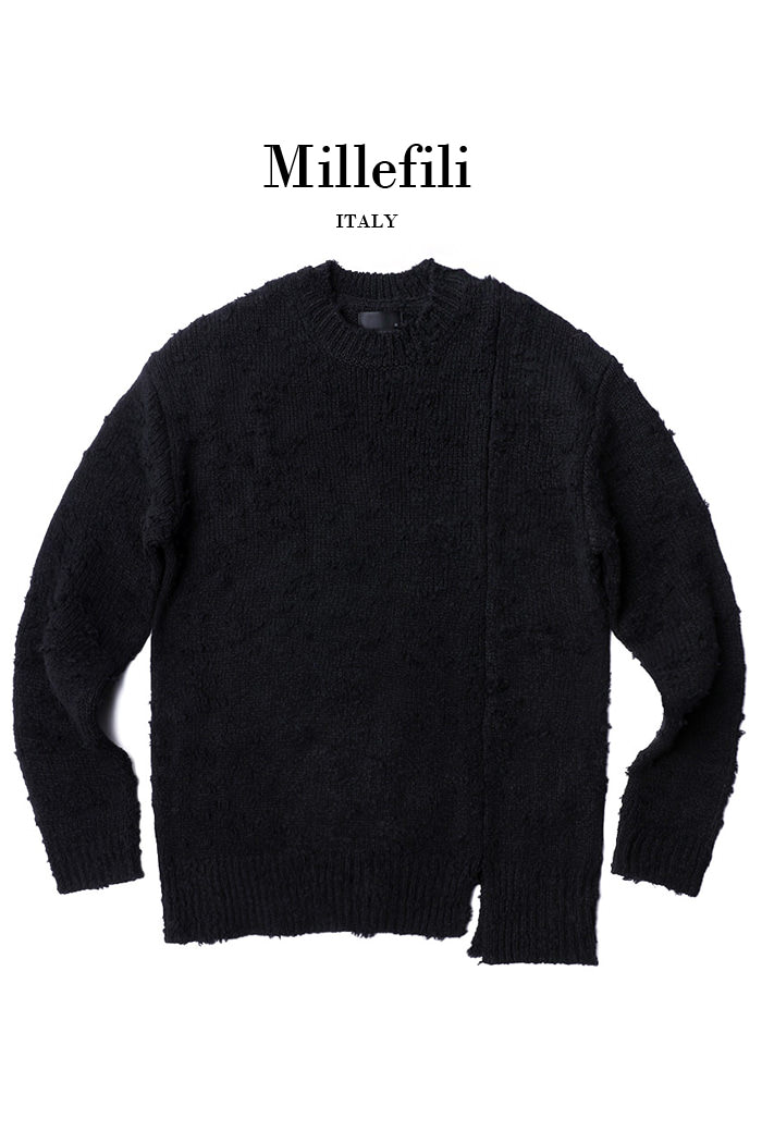 DISTRESSED LOOSE FIT KNIT-2COLOR[Italy yarn]스페셜오더!