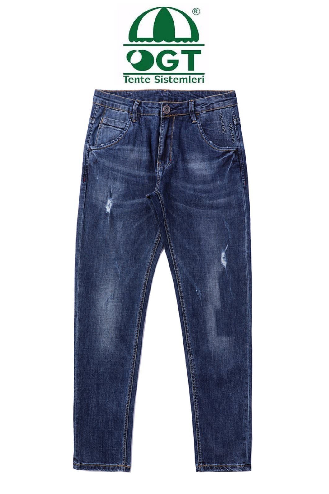 ALPER WASHED DENIM JEANS-BLUE수입한정제품