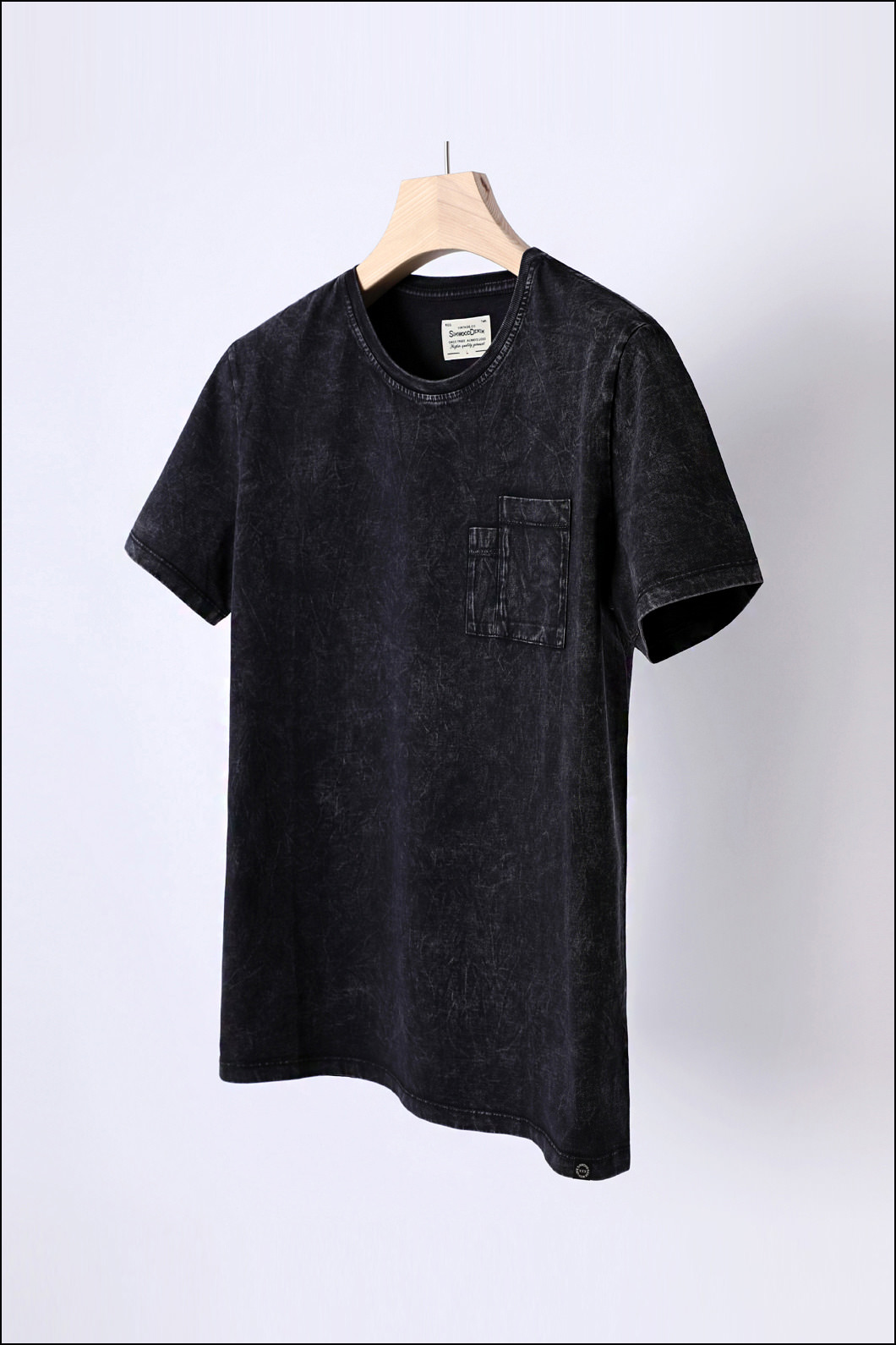 SIMWOOD WASHED ROUND T-SHIRT-CHARCOAL수입한정제품