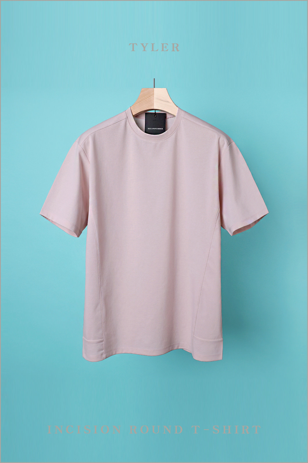 TYLER INCISION ROUND T-SHIRT-6COLOR