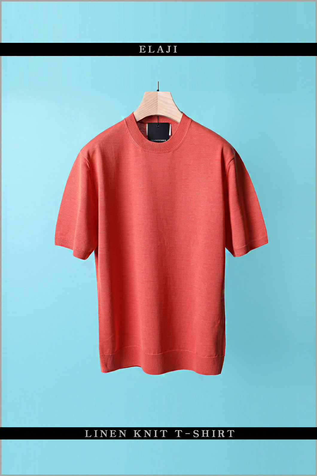 ELAJI LINEN KNIT T-SHIRT-14COLOR