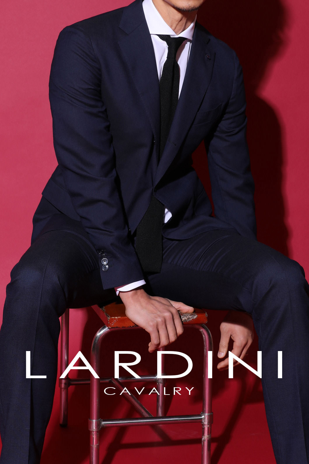 Lardini Cavalry Twill Suit-Navy[ITALY-Original]-극소량 한정!