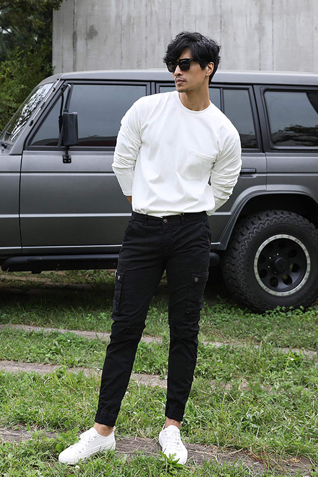 BUCKLEY SLIM CARGO PANTS-BLACK수입한정제품-블랙세일 EVENT