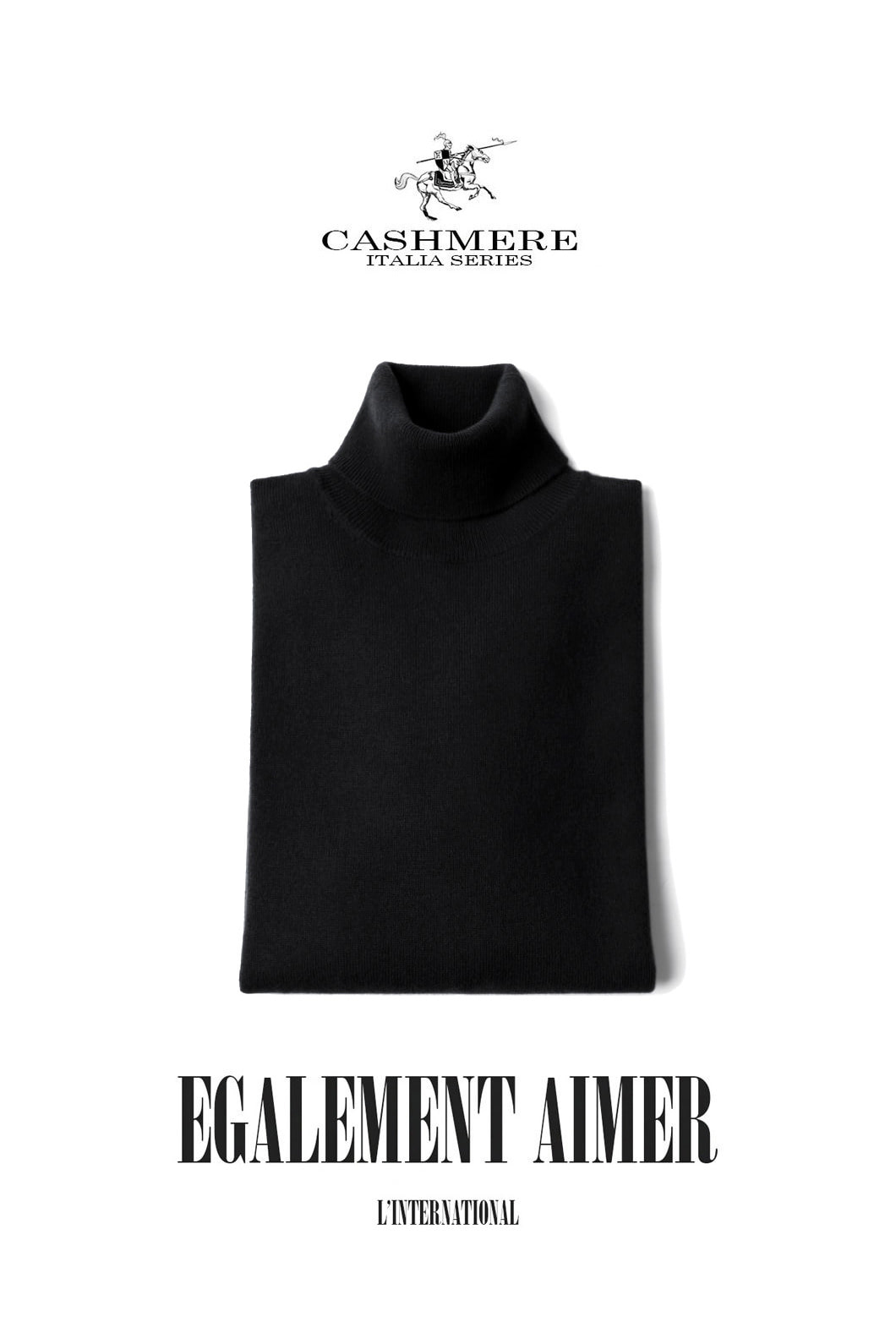 TAKE455 ROYAL CASHMERE TURTLENECK-BLACK[ITALIA SERIES]캐시미어 터틀넥-BEST SELLER!
