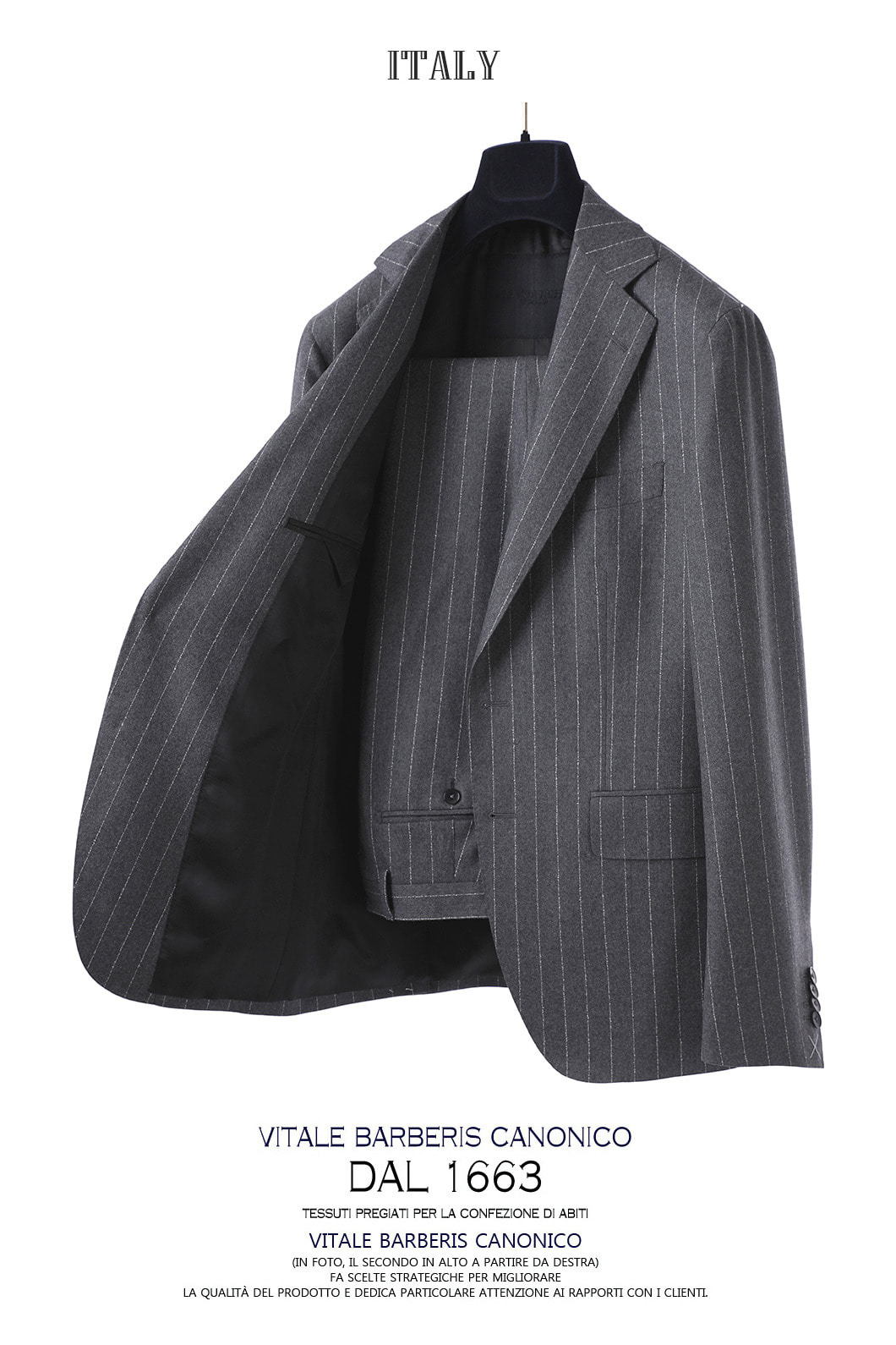 518 NOTCHED ITALY 1663 DRAGO SUIT-GRAY봄,가을용