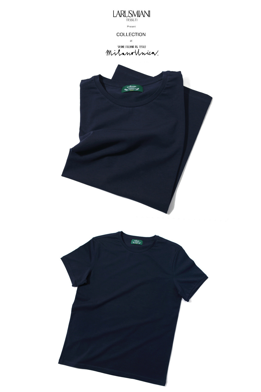 Take356 Larusmiani milano-italy basic t-shirt/4color