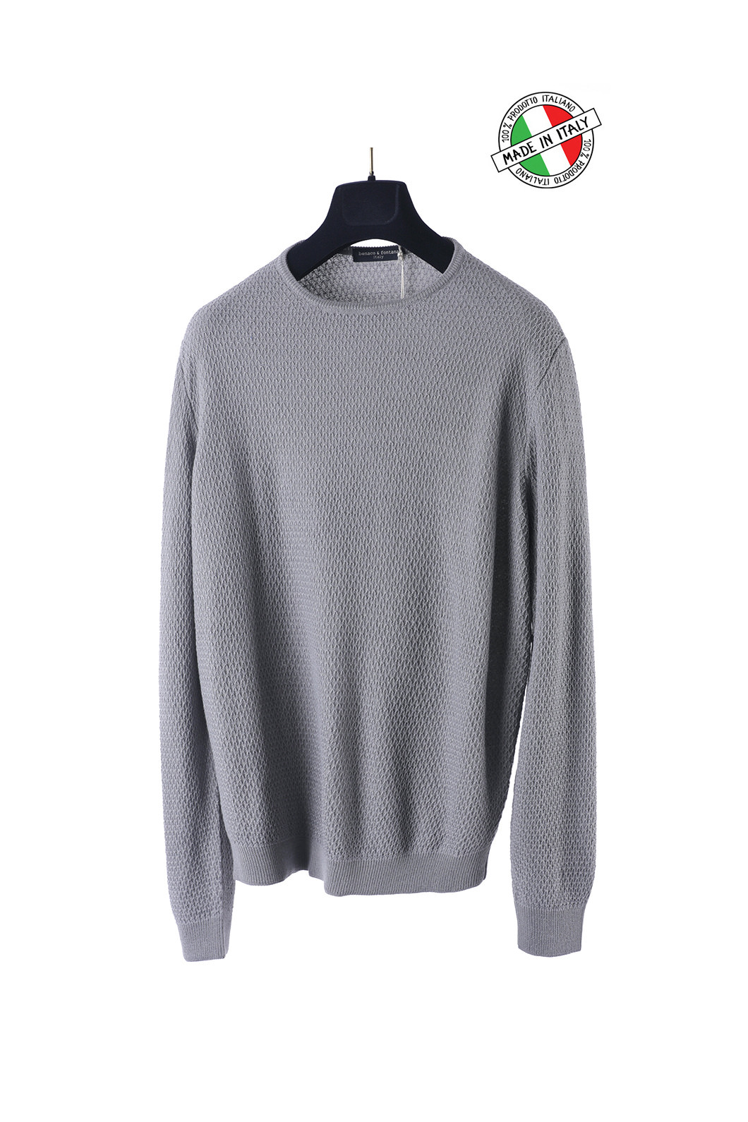 BENACO Honeycomb Knit-Light Gray