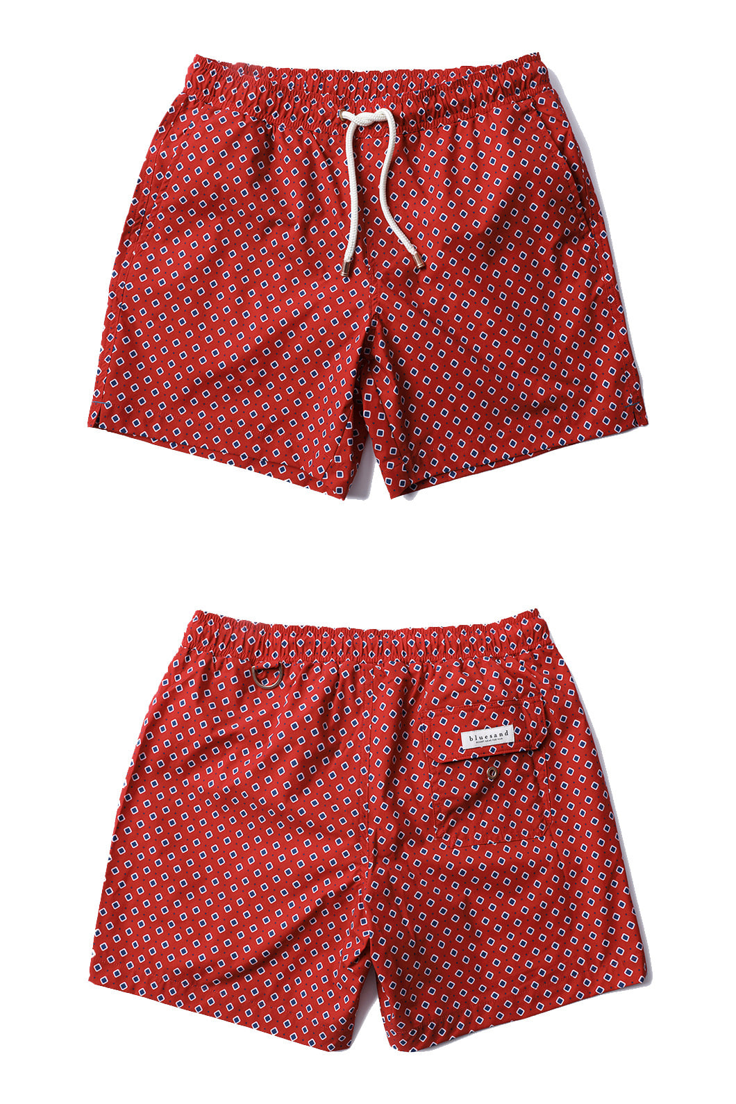 BLUE SQUARE DOT SWIM SHORTS-REDFATHER & SON SET! 세트 할인!