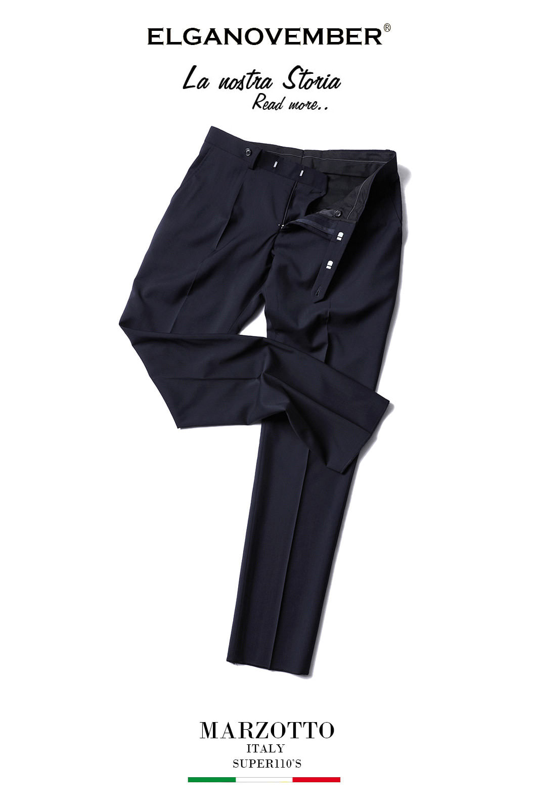 493 ITALY MARZOTTO VOLUME SLACKS PANTS-NAVY품절임박