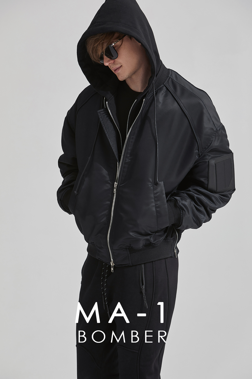 MA-1 BOMBER JACKET-BLACK소량 재입고