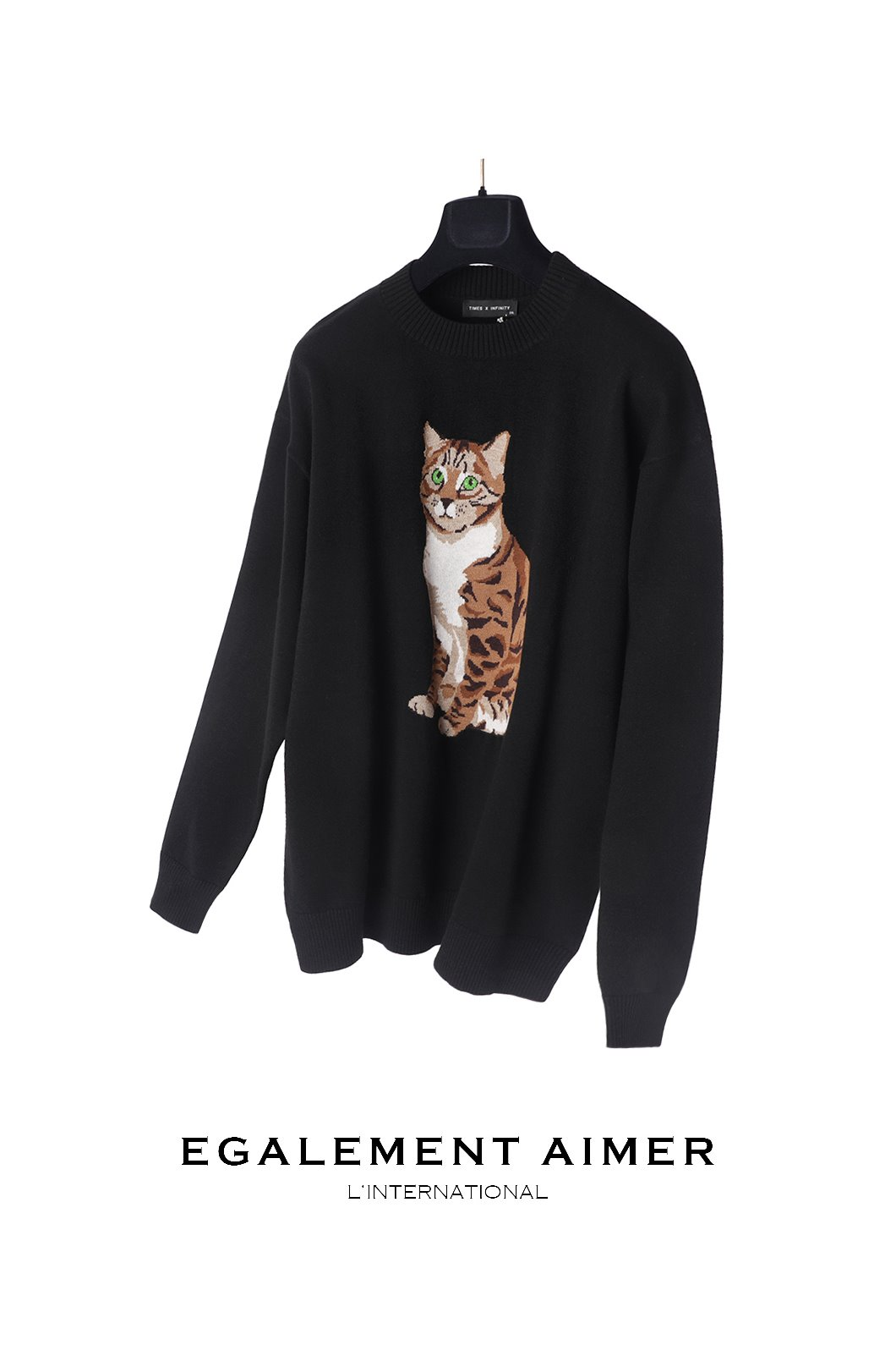 G.Y CAT KNIT-BLACK