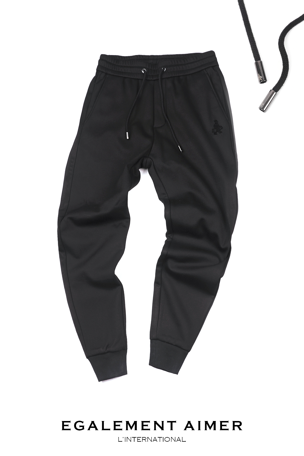 MINK TOUCH JOGGERS BANDIND PANTS-BLACK베스트셀러