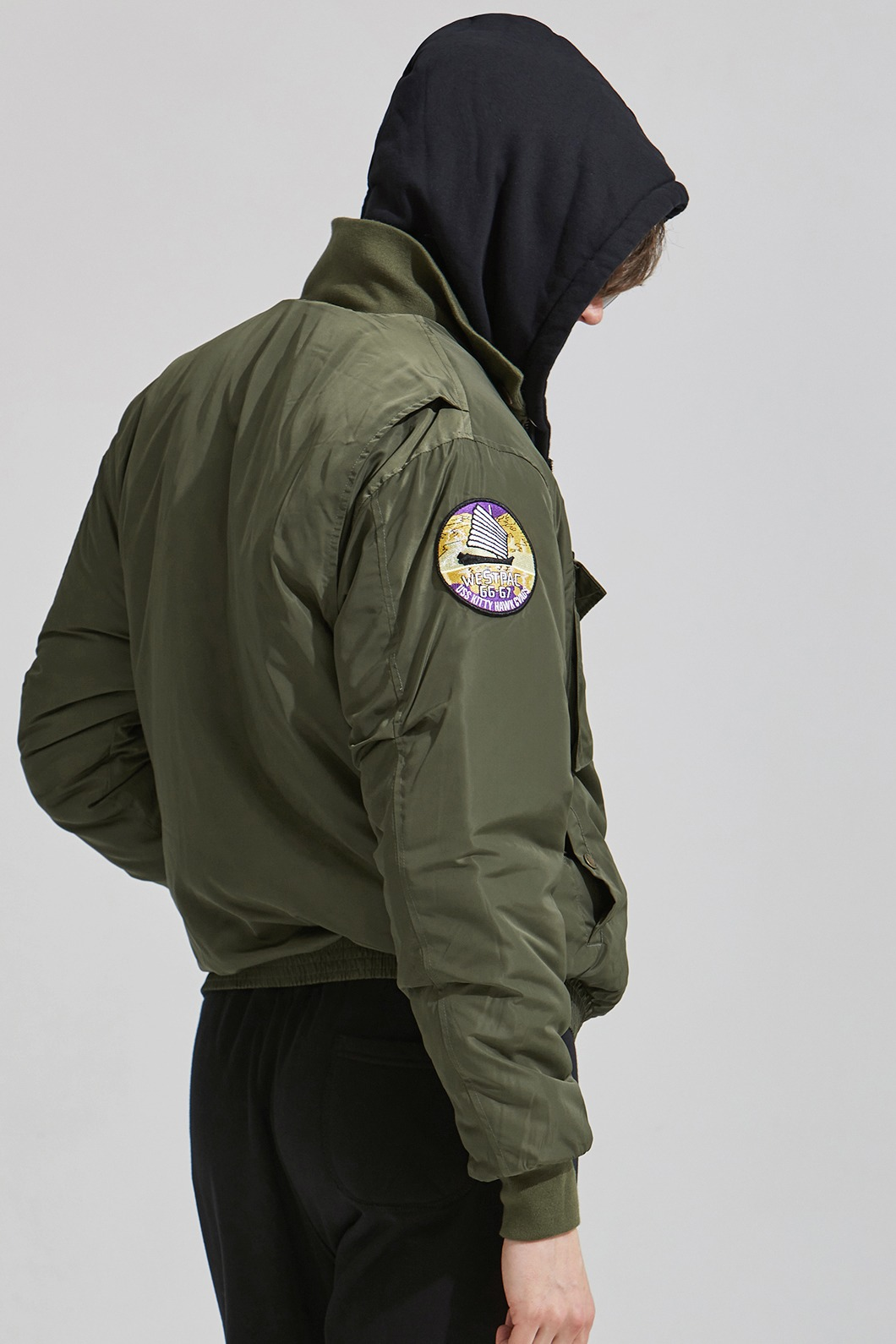 G.P Flight Patched G-8 Wep jacket-Khaki