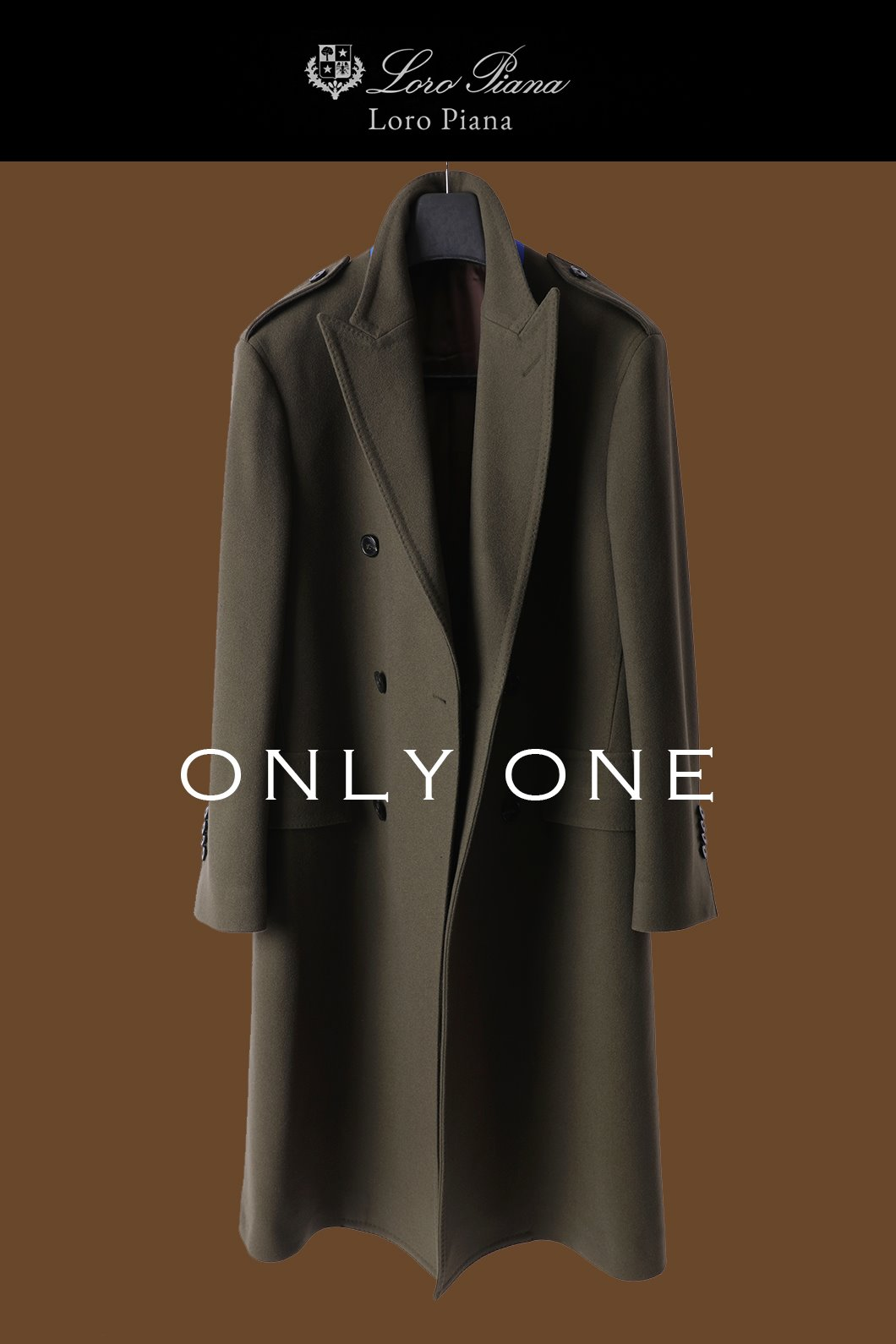 LOROPIANA DOUBLE COAT-OLIVESAMPLE ONLY ONE