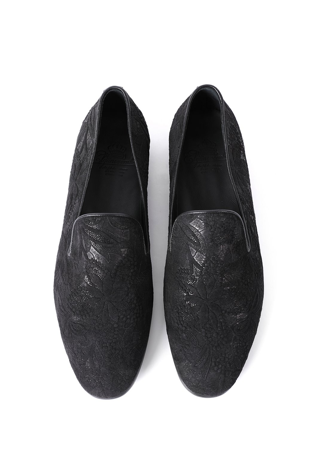 559 Artisan ITALY Goat Flower Loafer-Black