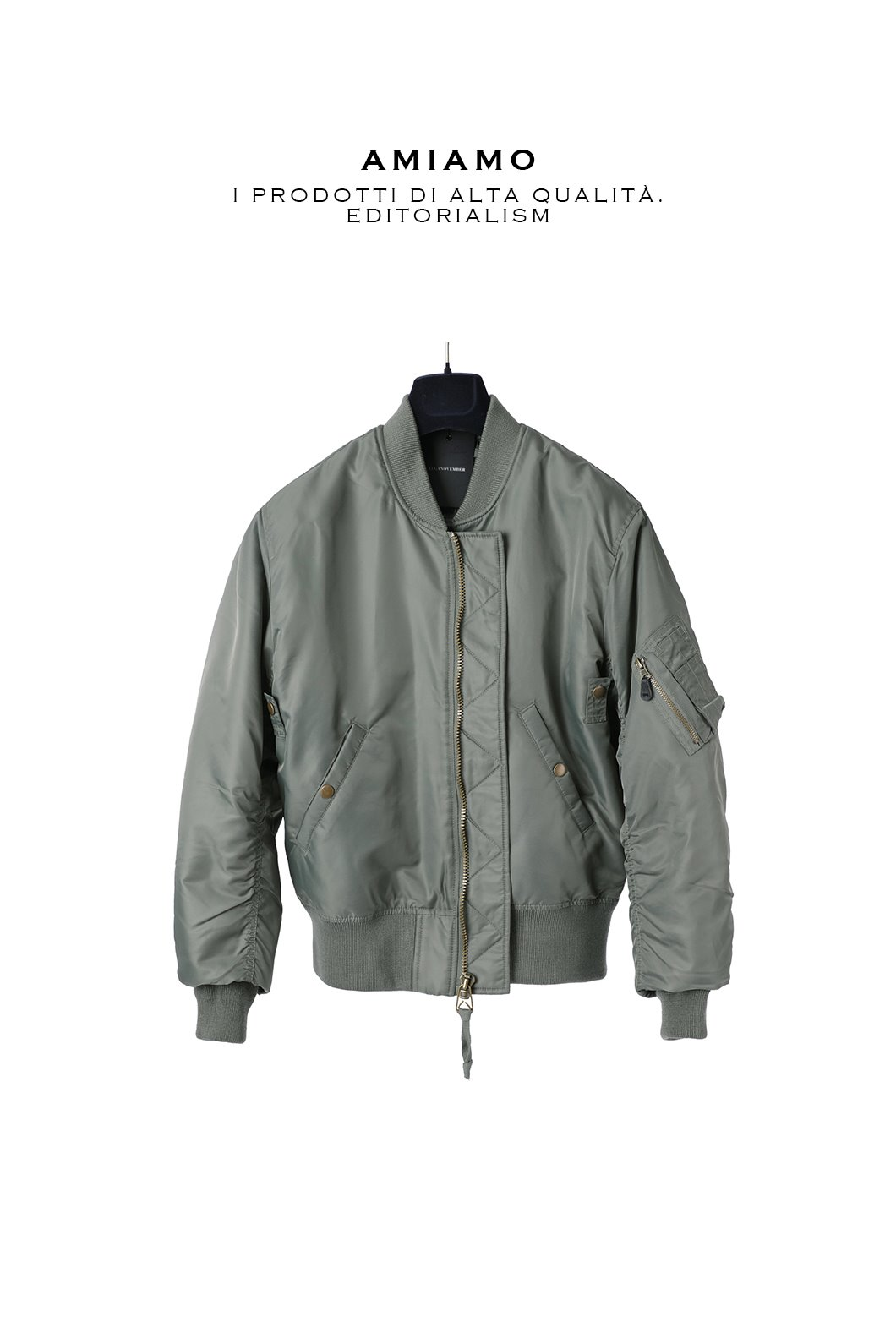 MA-1 Series All Khaki Bomber-Light Khaki한정수량