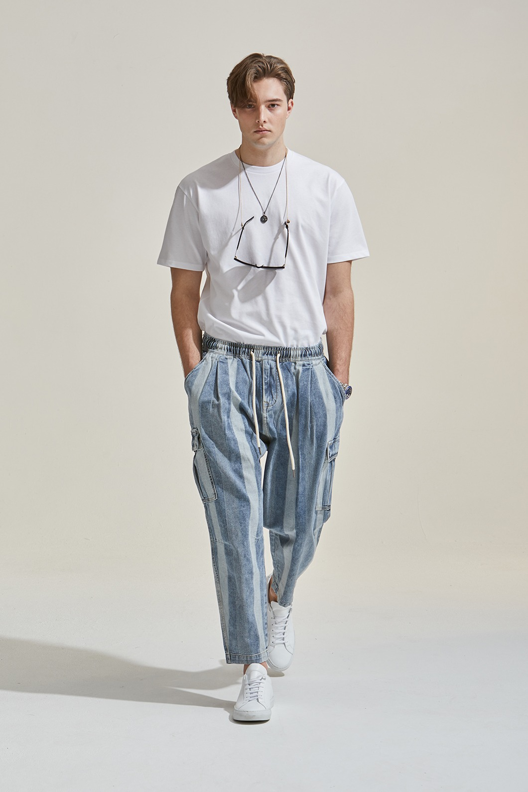 JUG Stripe Light Blue Pants