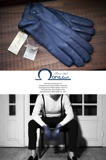 Take312 italy Omega Gloves/cobalt blue[made in italy]