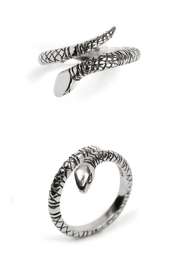 Snake open ring[premium-hand made]