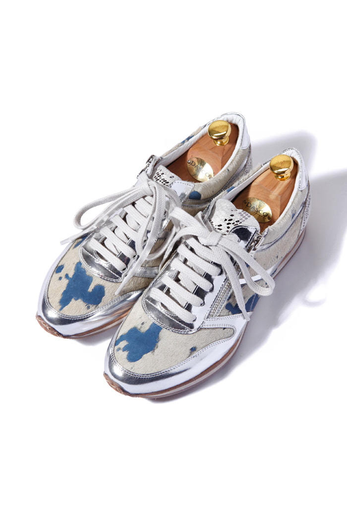HUNTER an unborn calf leather sneakers/3color[leather100%]