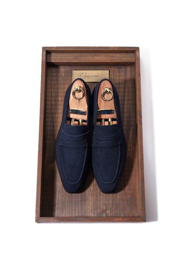 Take272 artisan loafer/dark navy[black label series]