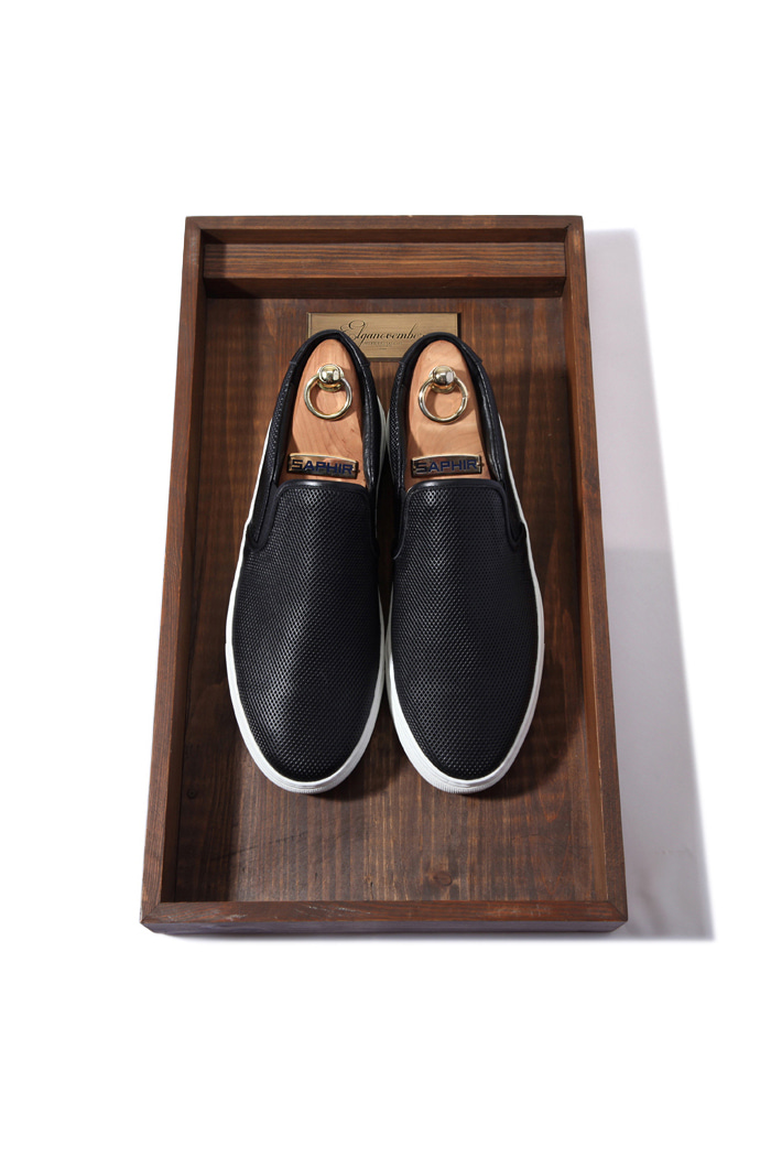 C.premium DIA slipon shoes/black[leather100%][제작기간 일주일 소요]