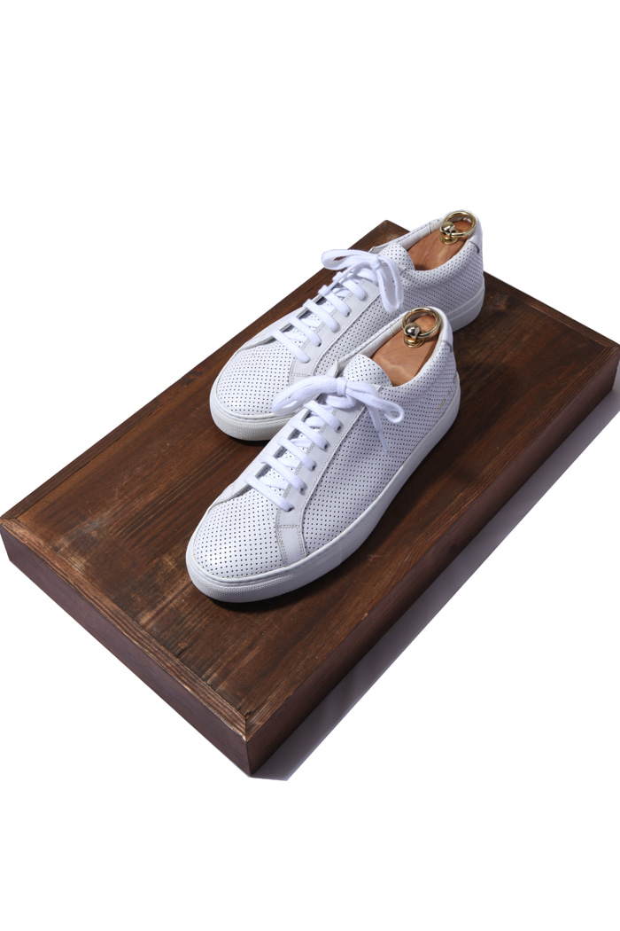 C.premium punching sneakers/white[leather100%]
