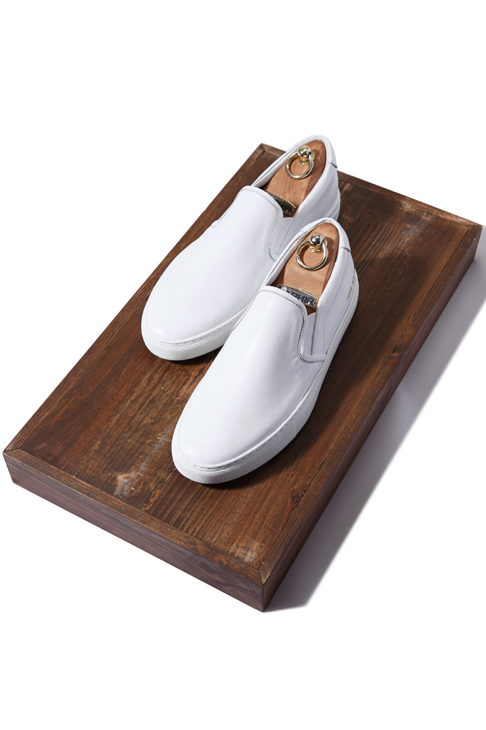 C.premium slipon shoes/white[leather100%][제작기간 일주일 소요]