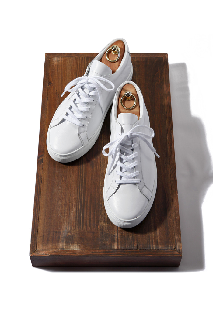 C.premium pure sneakers/white[leather100%][제작기간 일주일 소요]