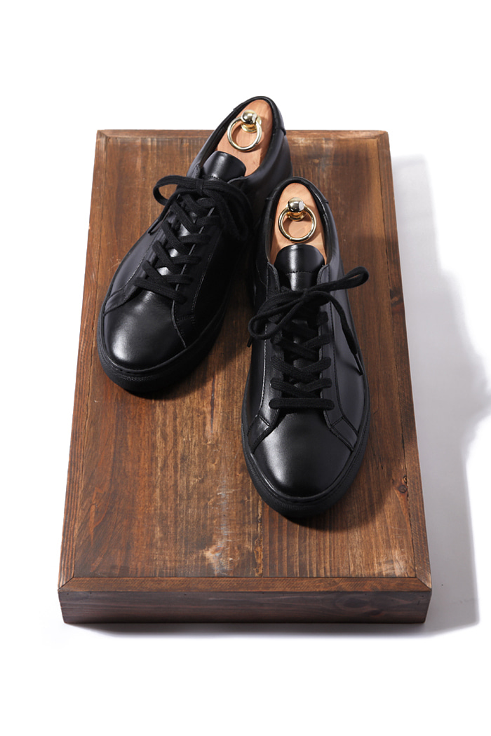 C.premium pure sneakers/black[leather100%][제작기간 일주일 소요]