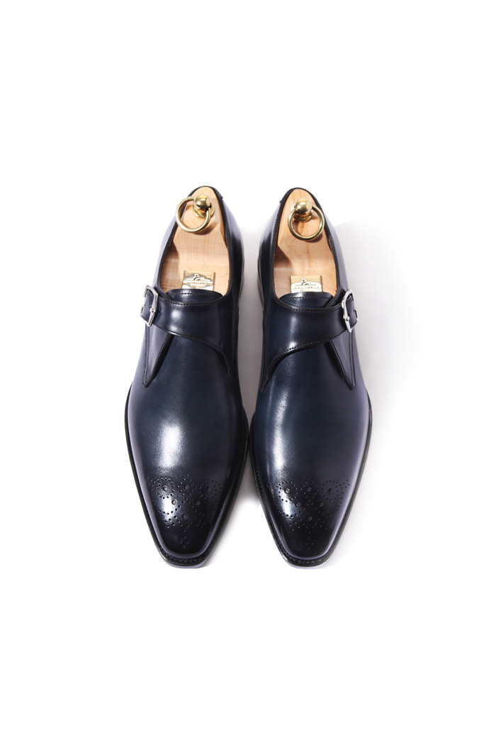 Take326 artisan goodyear welt shoes/dark navy