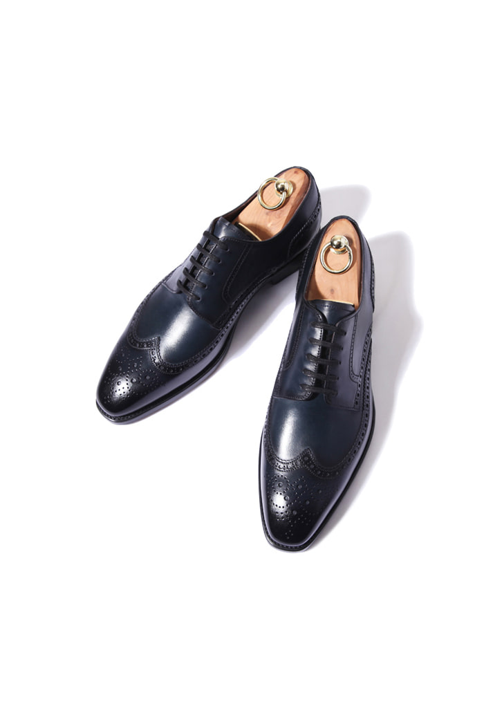 Take331 artisan goodyear welt shoes/dark navy-적극추천