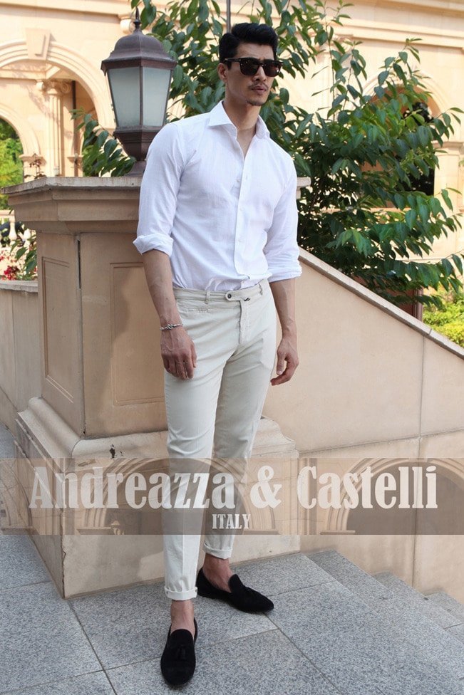 Take354 italia Andreazza&castelli shirt/white
