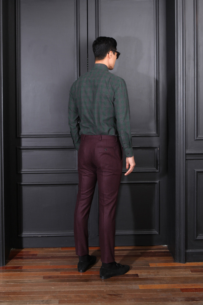 Take385 Italy Vitale barberis Canonico 1663 pants/dark wine-소량 한정모델