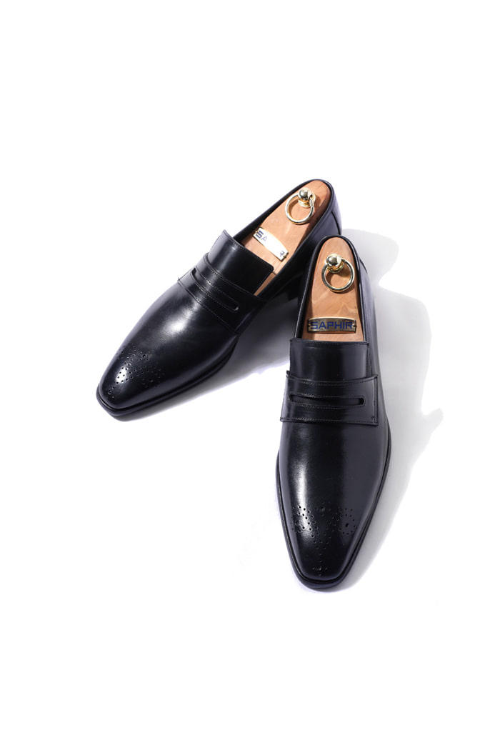Take400 artisan penny loafer/black[italy calf-bologna.ver]