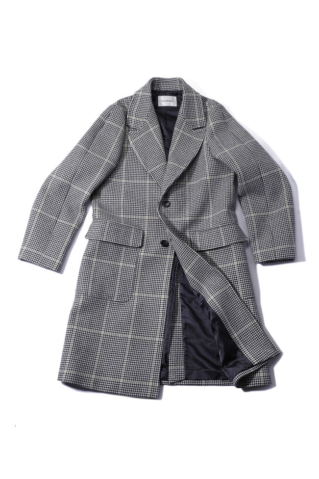 Granity single breasted coat/2type[standard over fit]